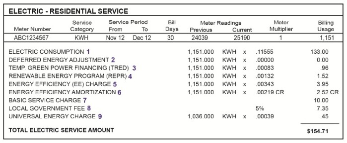 Electric Rates Southern Nevada